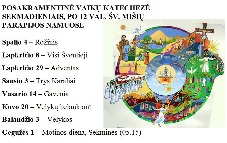 Posakramentinės katechezės skrajutė
